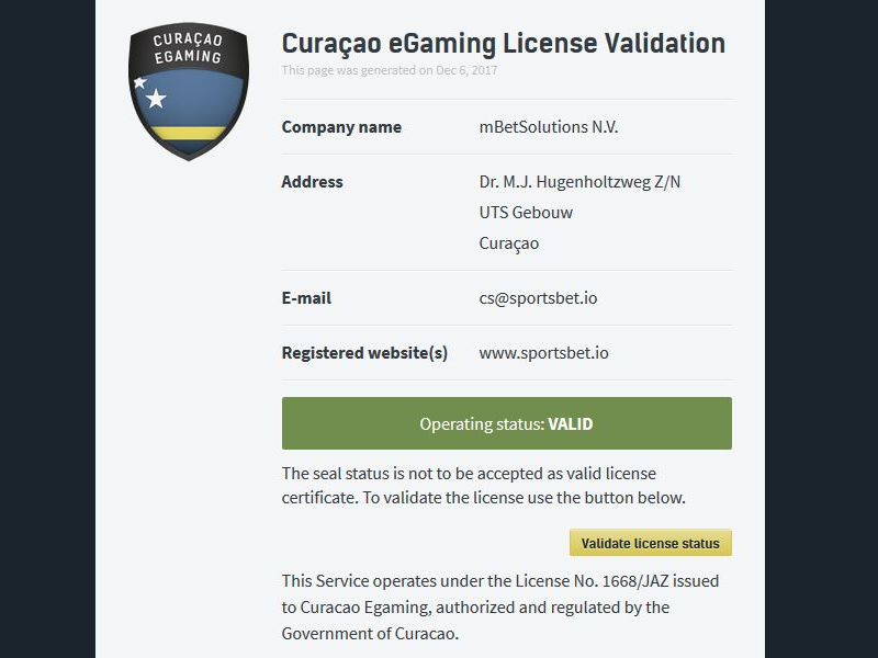 curacao license scam